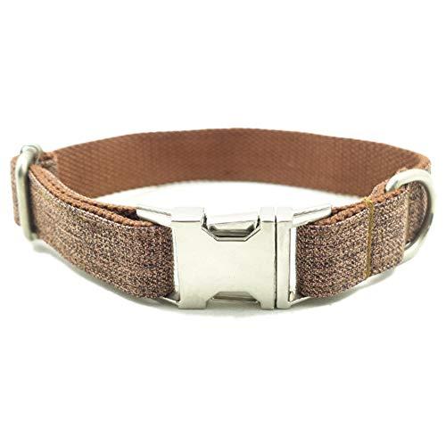 QitunC Haustier Hundehalsband Reißfest Einstellbare Geflochten Metall Schnalle Hund Halsbänder Aspicture S -