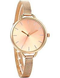 Avaner Reloj de Mujer Analogico Minimalista Reloj de Pulsera Milanes Ultra Fino, Acero Inoxidable Malla