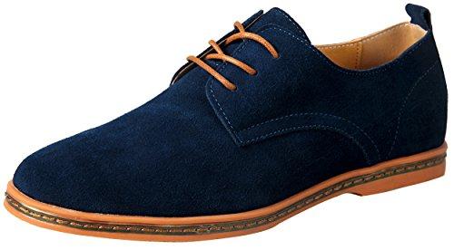 Herren Leder Schuhen Oxfords blau Freizeitschuhe Hochzeit Abend Wandern 44.5