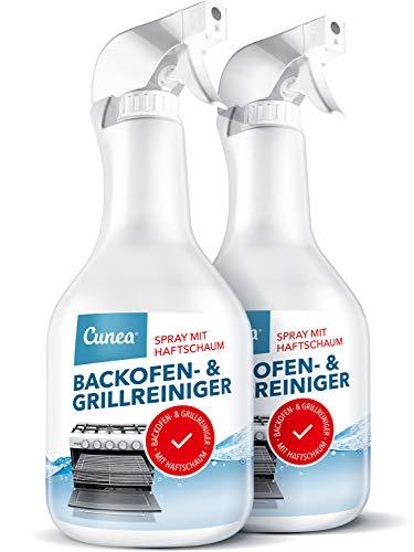 Backofen Grill & Herd Reiniger Reinigungsmittel - 2x 1.000ml Spray mit kurzer Einwirkzeit gegen Verkrustungen