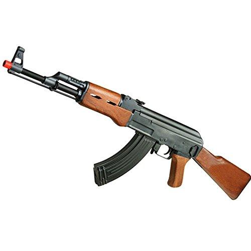 Fucile Elettrico per Softair CYMA CM022W AK 47 in Legno Soft Air con Hop-up Batteria Caricabatteria