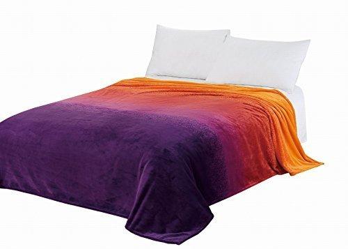 CaliTime Marke Super Soft Wurfdecke, Gradient Ombre Regenbogen - Streifen Voll 150cm X 220cm (Fleece Knee Warmers)