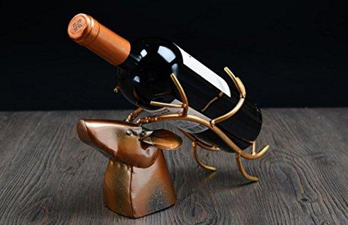 Ornamento di moda creativa vino bottiglia titolare vino rack bottiglia cremagliera in ferro battuto ,