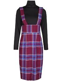 Lindy Bop 'Meredith' Vintage Style De Tartan Chasuble Wiggle Robe