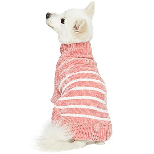 Urlaub Pjs (Blueberry Pet 2019 Hundepullover aus Chenille und Acryl, Herzmotiv, Back Length 18