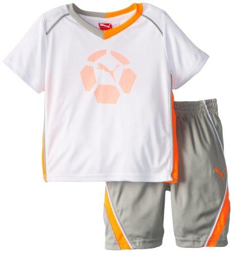 Puma Little Boys Boy Team Perf Set white