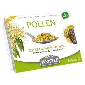 Pollen de châtaignier frais bio, barquette de 250 grammes