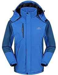 Geval Hombres al aire libre a prueba de viento Fleece chaquetas de esquí de excursión que acampa