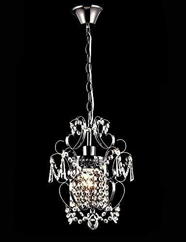 Ywqwdae Eisen-Malerei-Kronleuchter mit klarem Kristall Moderne Beleuchtung Lampe 220-240v M5169 [Energieklasse A +] - Kristall Klar Beleuchtung