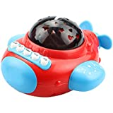 TOYMYTOY Educational Projector Toy Music Story Multifunction Plane Toy For Baby Infant Kids Children (Red)