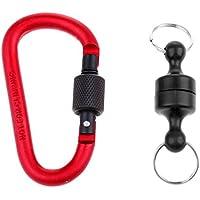 Baoblade Baoblaze 1 Stück Magnetischer Karabiner für Außen Sport Aktivitäten wie Angeln Kescher - 7.5cm - Schwarz