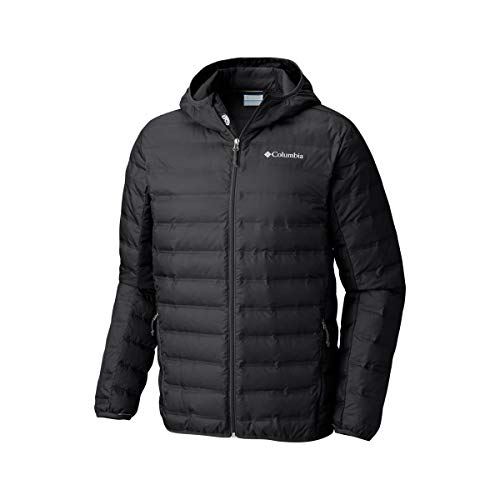 5b81bdb35 Columbia Homme Doudoune à Capuche, LAKE 22 DOWN HOODED INSULATED JACKET,  Polyester, Noir, Taille : M, WO0840