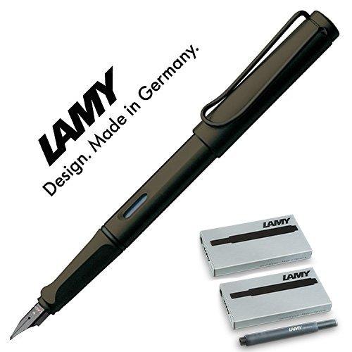 Preisvergleich Produktbild Lamy Füllhalter Safari umbra matt, Feder: F (Mit schwarzen Patronen, Umbra F)