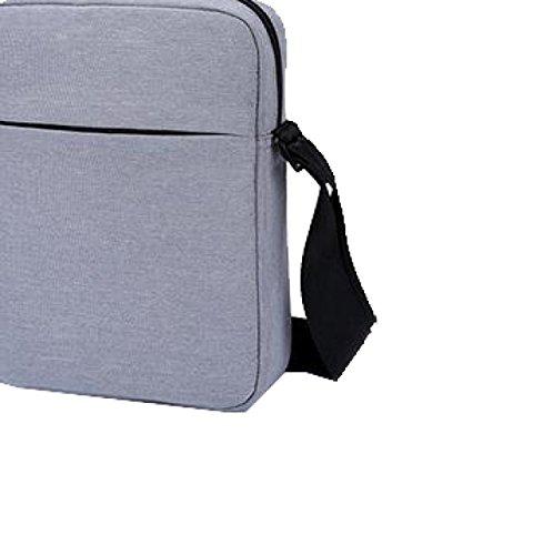 Yy.f Nuovo Pacchetto Diagonale Casuale Sacchetto Degli Uomini Di Business Casual Borse Moda Borse Di Colore Solido Il Pacchetto 3 Colori Grey