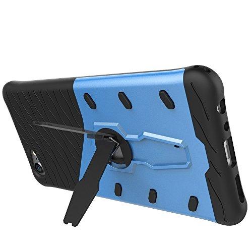 Schock-resistent 360 Grad Spin Sniper Hybrid Case TPU + PC Kombi-Gehäuse mit Halter für vivo X9 Plus by diebelleu ( Color : Black ) Blue