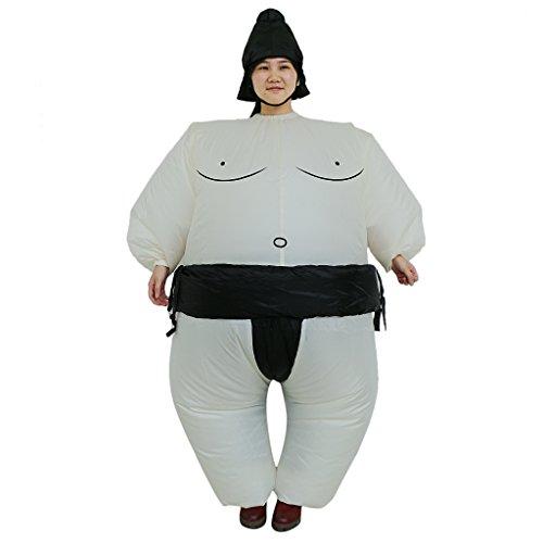Divertente gonfiabile lottatore di sumo costume bambino vestito grasso bambini festa giapponese