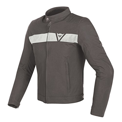 Dainese Original Stripes Tex Motorbike/Motorcycle Jacket Black & White 201735187-3 54 Schwarz & weiß Dainese Stripes