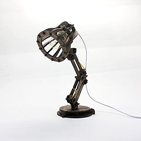 MDRW-Creative table lampCreative wood table lamp, LED eye protection desk