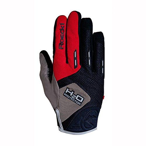 Roeckl Erwachsene Moro Handschuhe, Schwarz/Rot, 8.5