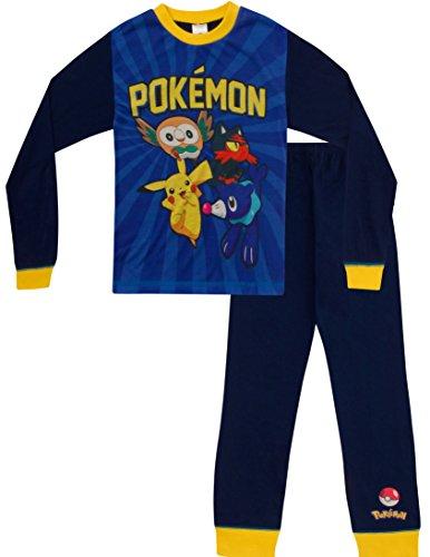 ThePyjamaFactory - Pijama dos piezas - para niño azul azul 10 años