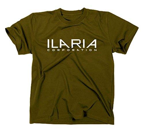 Ilaria Corporation T-Shirt per uomo Helix, Arctic biosystems oliva