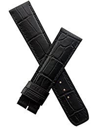 WATCH STRAP WORLD Black leather crocodile-effect deployment type strap to fit Baume & Mercier Capeland models requiring a 20 mm strap