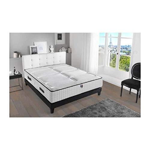 HOTEL LUXE Ensemble matelas + sommier 140 x 190 cm - Mémoire de forme - Equilibré - 50 kg/m3 - 2 personnes