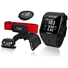Polar V800 Special Edition im Vorteilsbundle - schwarz/schwarz - Bundle inklusive Herzfrequenz-Sensor, Radhalterung, Lauf- und Trittfrequenz-Sensor