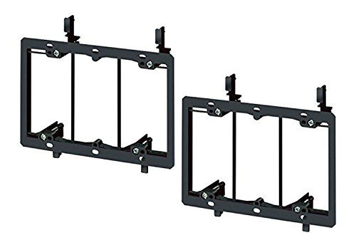 imbaprice-3-gang-low-voltage-wallplate-mounting-bracket-black-pack-of-2