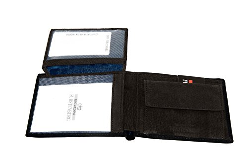 Portafoglio uomo EGON FURSTENBERG nero con patta e portamonete A4318