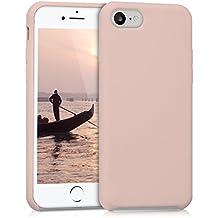 kwmobile Funda para Apple iPhone 7 / 8 - Case para móvil de TPU silicona - Cover trasero en rosa oro mate