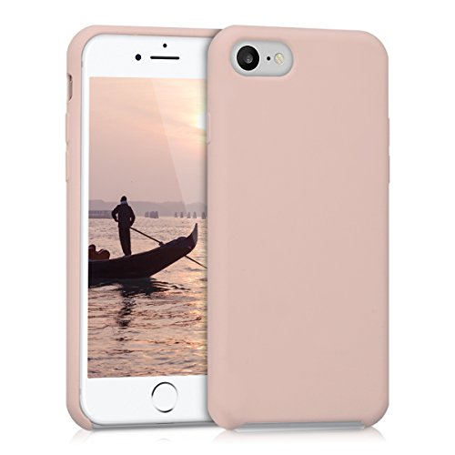 Kwmobile cover per apple iphone 7/8 - custodia in silicone tpu - back case protezione posteriore per cellulare oro rosa matt