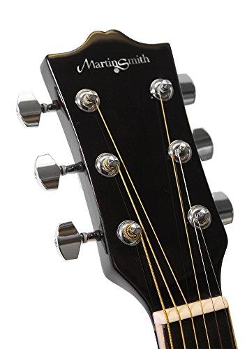 Martin Smith W-401E - Chitarra elettroacustica a spalla mancante, colore nero