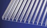 Polycarbonat Stegplatten Hohlkammerplatten klar easy clean 3000 x 980 x 16 mm