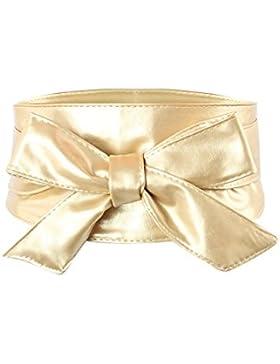 iShine Mujer Amplia Cintura Cinturón Lazo Cinturón Vestido de Fiesta Boda Cinturón con cuatro colores