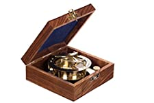 Maritime nautical fully functional brass compass