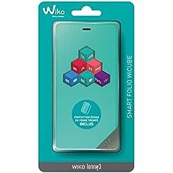 Wiko Folio Wicube Bleen + Verre Trempe Lenny 3