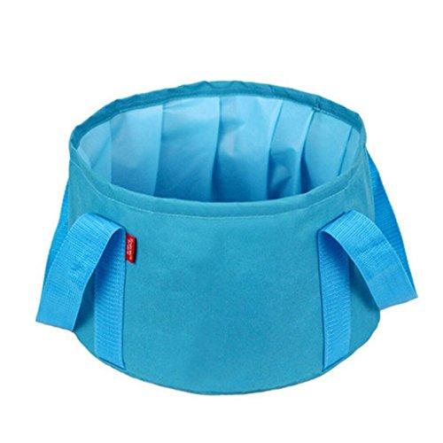 outdoor product Essentiel de Voyage Voyage créatif en Plein air Voyage Sac d'artefact Fournitures Portable Sac lavabo Bassin Pliant (Bleu) (Envoyer Le même Sac)