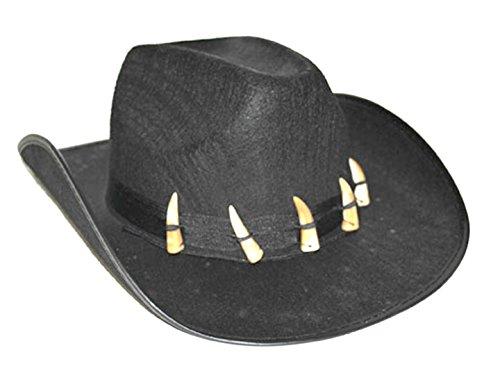 Fancy Ole - Cowboyhut mit Zähnen Wilder Westen - Erwachsenen Cowboykostüm, (Helm Reiter Kostüm)