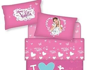 Disney Violetta Parure de Lit - Draps Complete Caleffi