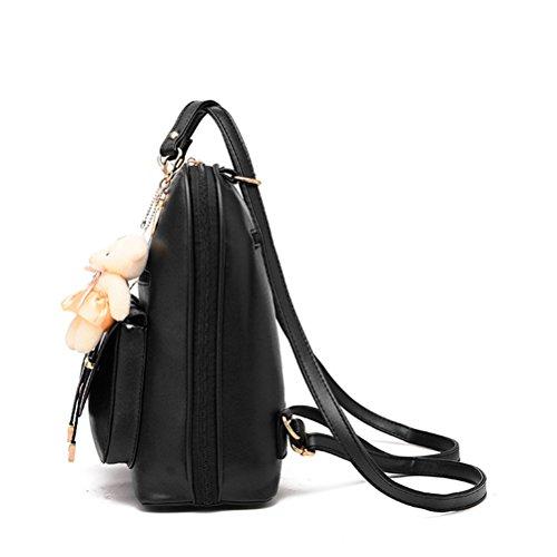 Honeymall-Le nouveau sac à dos filles de loisirs Ours pendentif Bourgogne