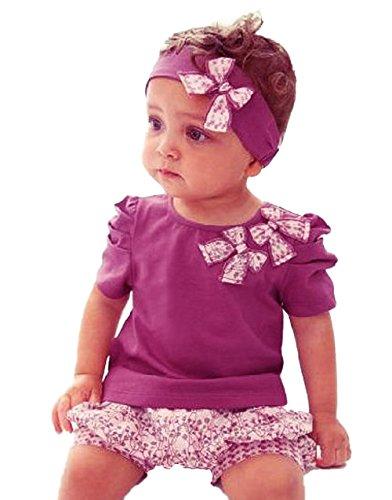 Girls' 2pcs suits short sleeve printing T-shirt +pants Fashion Children Clothes Set Kids pants Suit (baby height 90cm)