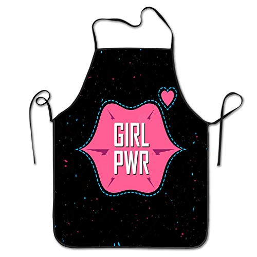Funny Personality Apron Girl Power Feminist Slogan Fashionable Fun Girly patche stic Sticker pin Fashion Glam Apparels Chef Kitchen Aprons 20.4 * 28.3 inch