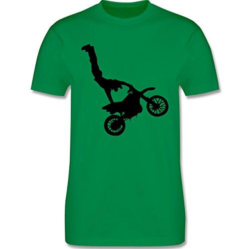 Motorsport - Motorrad Stunts - Herren Premium T-Shirt Grün