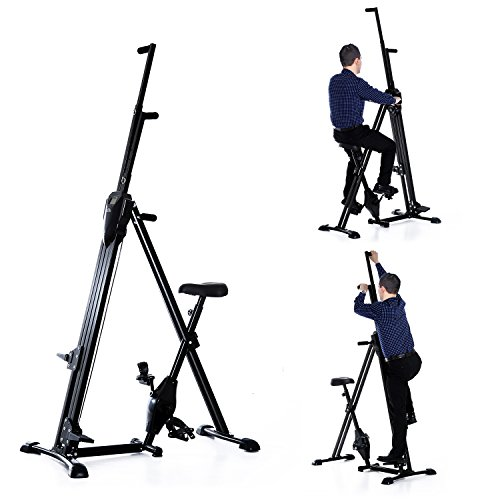Homcom Vertical Climber Exercise Bike Stepper Cardio Home Gym Workout Fitness w/ LCD Monitor