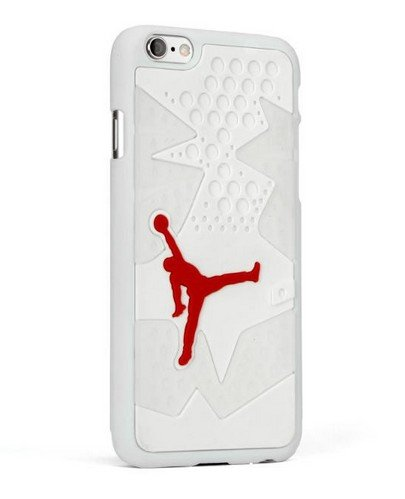 Air Jordan pour Apple iPhone 6Plus Coque Jordanie Semelle 6 blanc