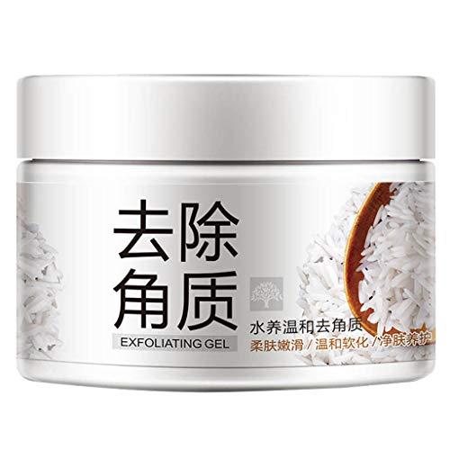fasloyu Gesichts-Whitening-Creme, zum Verschließen offener Poren Peeling-Reis-Serum Feuchtigkeitsspendende Lichtpunkt-Creme, Wasserfeste Hautaufhellende Salbe Hd Body Skin Makeup (Weiß) -