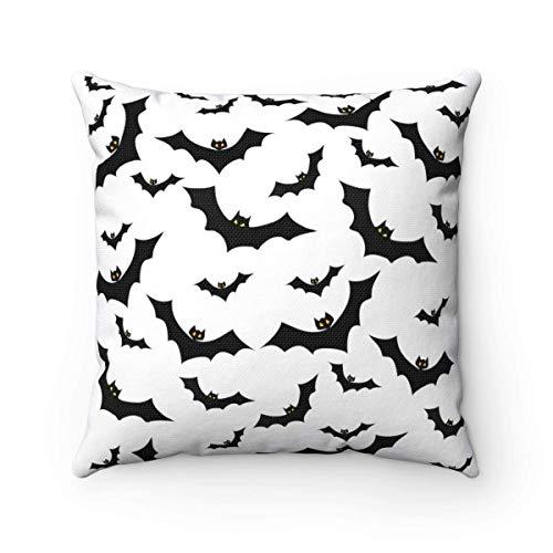 Odin sky Vampirfledermaus dekorative Kissen gegangen Batty Witchy Halloween Kissen Home Decor Halloween Urlaub Dekoration Goth Dekor 18 x 18 ()