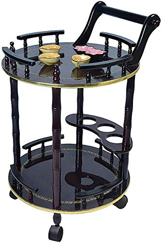 Pkfinrd Küche Serving Barwagen Wagen Walzgerüst, Lagerung Lebensmittel Getränke, Kaffee, Tee Räder Stabiler Weinregal, Schönheit Wagen (Color : A)