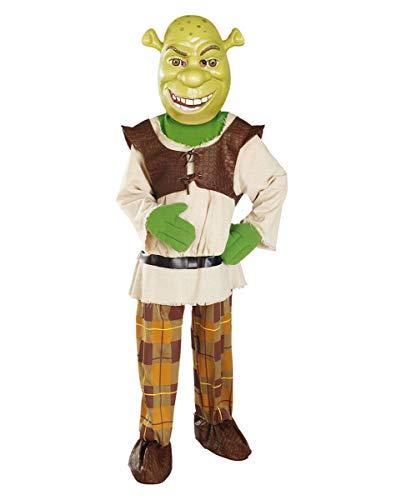 Horror-Shop Lizenziertes DreamWorks Shrek - der tollkühne Held Kinderkostüm mit Oger-Maske ()